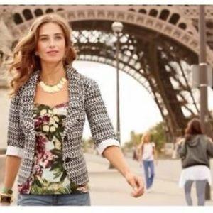 CAbi #298 Du Jour circle dot blazer jacket sz 0
